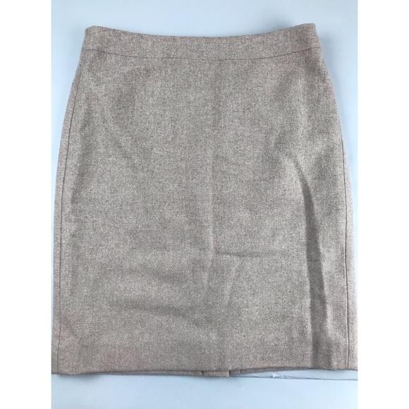 71bcbab1682e J. Crew Skirts   J Crew No 2 Double Serge Wool Beige Pencil Skirt ...